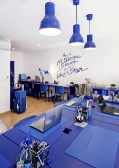 Elegant Blue Office Decor Ideas 29