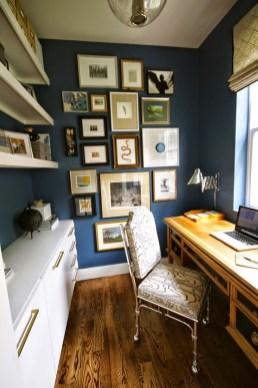 Elegant Blue Office Decor Ideas 40