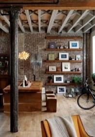 Elegant Exposed Brick Apartment Décor Ideas 12