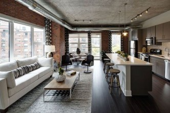 Elegant Exposed Brick Apartment Décor Ideas 15