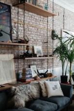 Elegant Exposed Brick Apartment Décor Ideas 23
