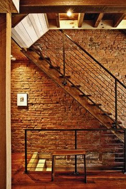 Elegant Exposed Brick Apartment Décor Ideas 32