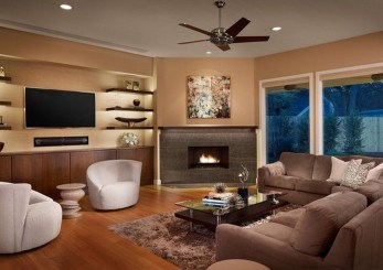 Inspiring Corner Fireplace Ideas In The Living Room 08