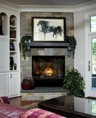 Inspiring Corner Fireplace Ideas In The Living Room 22