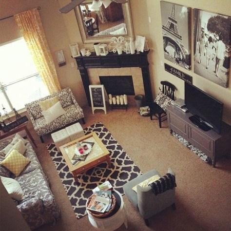 Inspiring Corner Fireplace Ideas In The Living Room 41