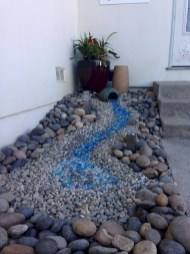 RSimple Rock Garden Decor Ideas For Front And Back Yard 14