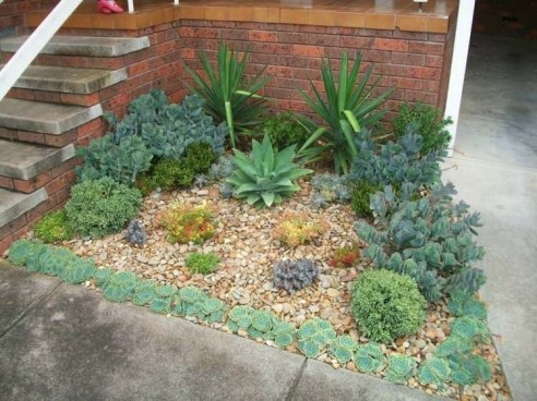 RSimple Rock Garden Decor Ideas For Front And Back Yard 17