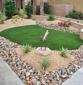 RSimple Rock Garden Decor Ideas For Front And Back Yard 18