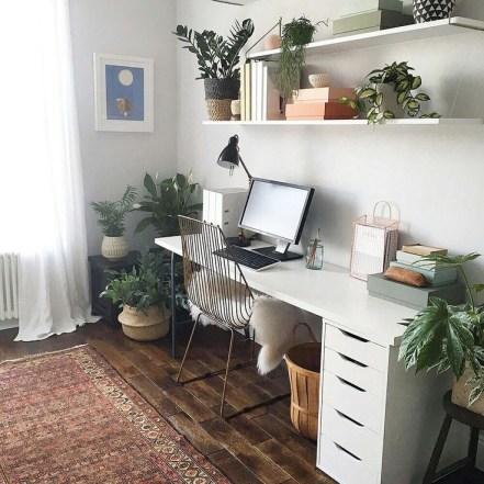 Relaxing Green Office Décor Ideas 15