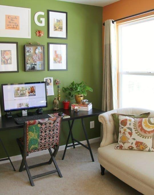 Relaxing Green Office Décor Ideas 34