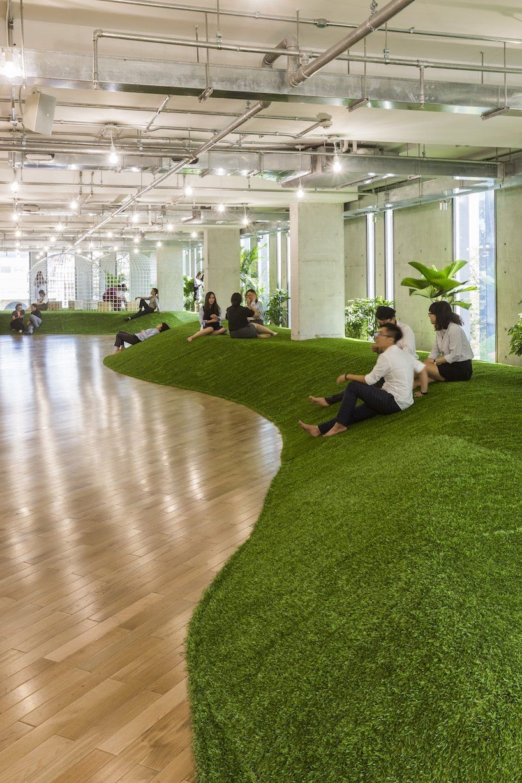 Relaxing Green Office Décor Ideas 36