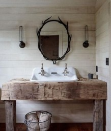 Awesome Rustic Farmhouse Vanities Ideas 03