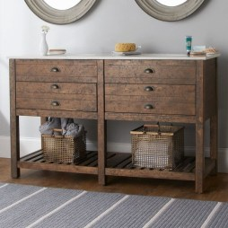 Awesome Rustic Farmhouse Vanities Ideas 11
