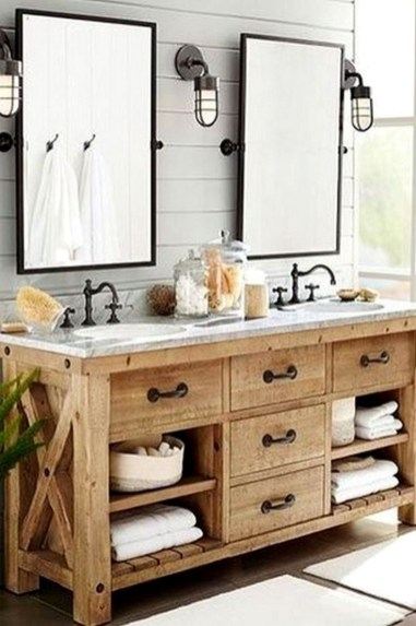 Awesome Rustic Farmhouse Vanities Ideas 15