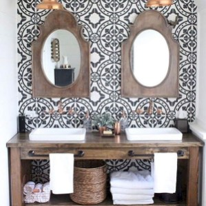 Awesome Rustic Farmhouse Vanities Ideas 17