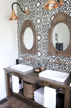 Awesome Rustic Farmhouse Vanities Ideas 26