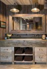 Awesome Rustic Farmhouse Vanities Ideas 30