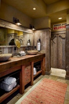 Awesome Rustic Farmhouse Vanities Ideas 35