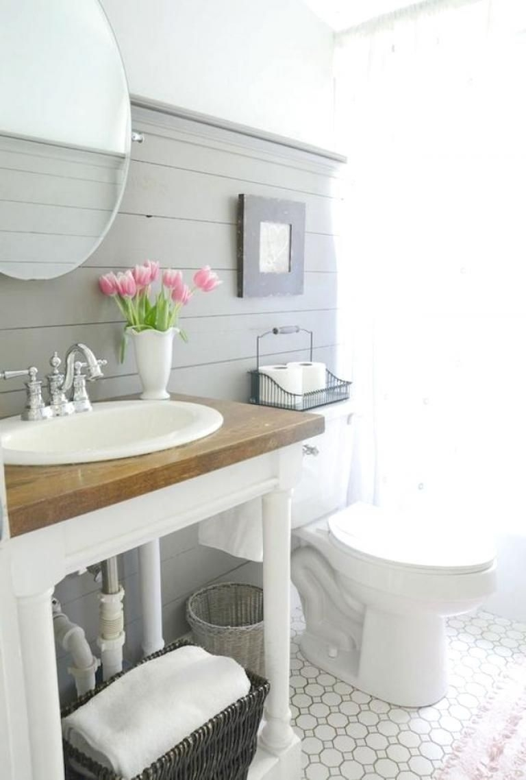 Awesome Rustic Farmhouse Vanities Ideas 40