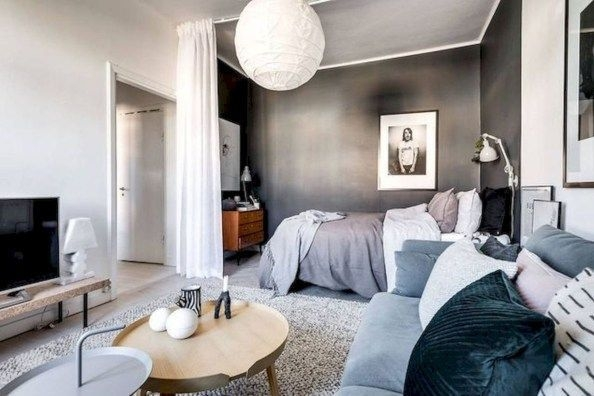46 Cozy Small Apartment Bedroom Remodel Ideas - ZYHOMY