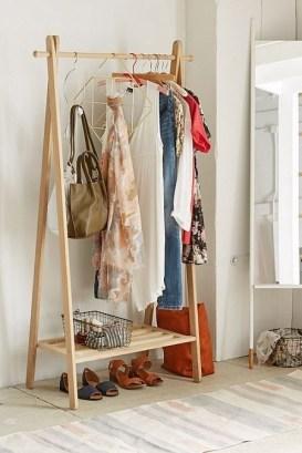 Easy And Practical Clothing Racks For Casual Décor Ideas 26