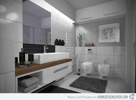 Luxury Black And White Bathroom Design Ideas 01