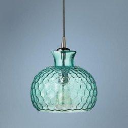 Pretty Aqua Pendant Lamp Ideas 34