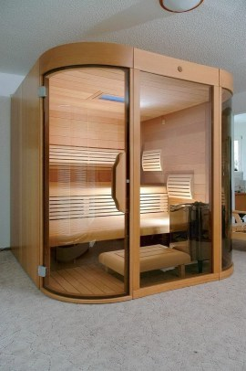 Wonderful Home Sauna Design Ideas 11