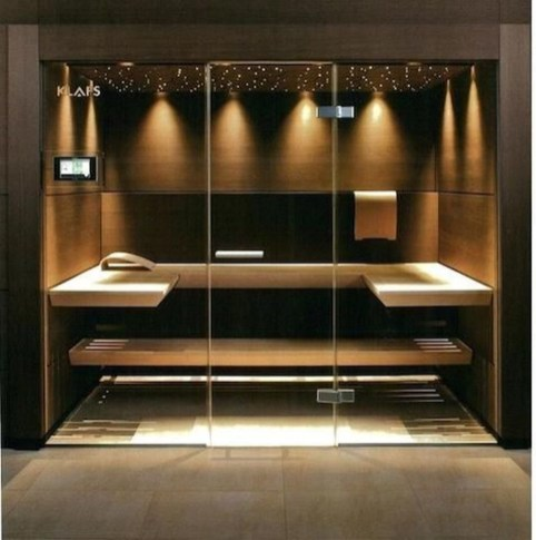 Wonderful Home Sauna Design Ideas 18