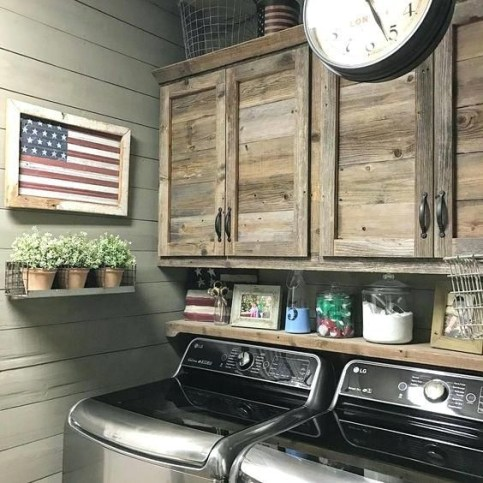 Amazing Diy Laundry Room Makeover With Farmhouse Style Ideas 38