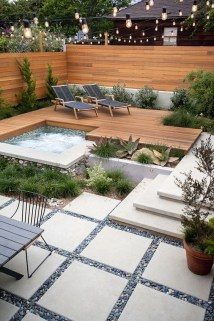 Attractive Sunken Ideas For Backyard Landscape 35