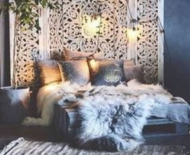 Comfy Boho Bedroom Decor With Attractive Color Ideas 04