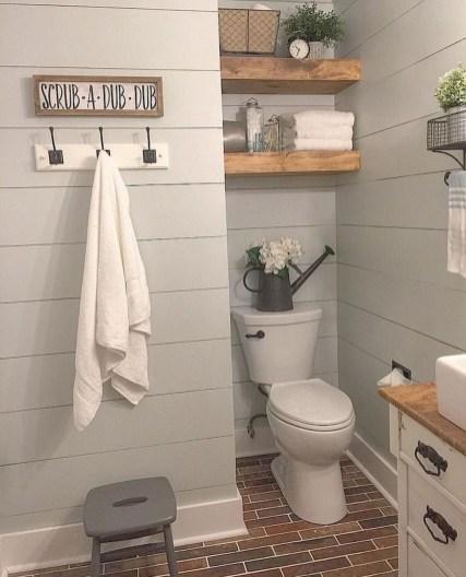 Lovely Modern Farmhouse Design For Bathroom Remodel Ideas 41