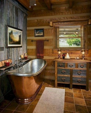 Minimalist Bathroom Winter Decoration Ideas 40