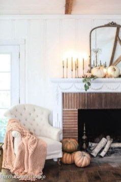 Stylish Fall Home Decor Ideas With Farmhouse Style 06