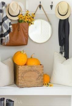 Stylish Fall Home Decor Ideas With Farmhouse Style 41