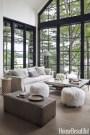 Cozy Lake House Living Room Decoration Ideas 44