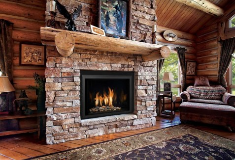 Fabulous Rock Stone Fireplaces Ideas For Christmas Décor 08