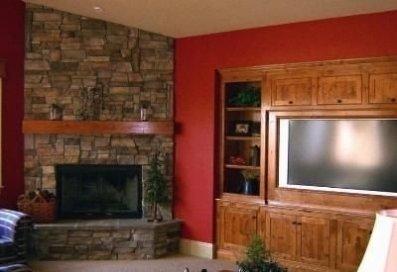 Fabulous Rock Stone Fireplaces Ideas For Christmas Décor 21