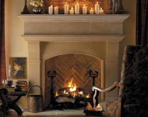Gorgoeus Rustic Stone Fireplace With Christmas Décor 04