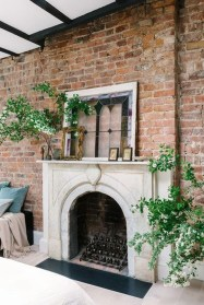 Gorgoeus Rustic Stone Fireplace With Christmas Décor 30