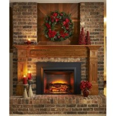 Gorgoeus Rustic Stone Fireplace With Christmas Décor 40