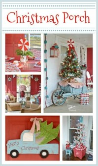 Lovely Farmhouse Christmas Porch Decor And Design Ideas 11