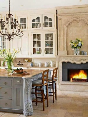 Newest French Country Kitchen Decoration Ideas 07