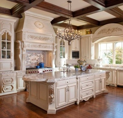 Newest French Country Kitchen Decoration Ideas 26