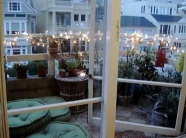 Popular Apartment Balcony For Christmas Décor Ideas 28