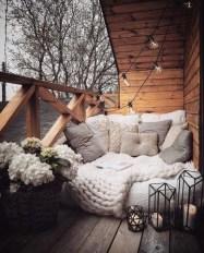 Popular Apartment Balcony For Christmas Décor Ideas 34