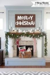 Stunning Fireplace Mantel Decor For Christmas Ideas 05