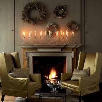 Stunning Fireplace Mantel Decor For Christmas Ideas 08