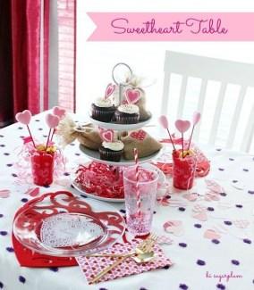 Cheap Valentine Table Decoration Ideas18